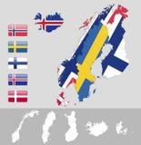 Europa norte, Escandinávia Imagem de Stock