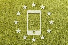 Europa nya techskatter arkivfoton
