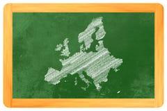 Europa på en svart tavla Royaltyfri Foto