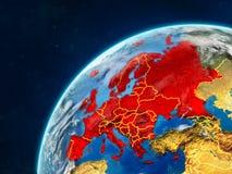 Europa på jord med gränser arkivbild