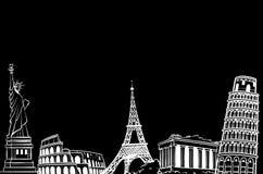 Europa på svart bakgrund arkivfoton