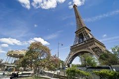 Europa, Parijs, cruise op de Zegen op Bateaux Mouches, de Toren van Eiffel stock afbeelding