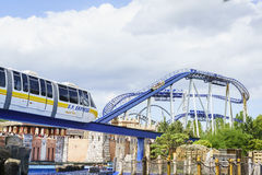 Europa Park express train in Greek scenery Stock Images