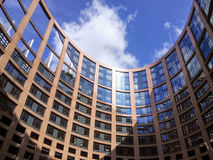 Europa parlamentbyggnad inom Arkivbild