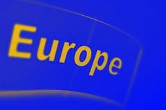 Europa pisać na błękitnym tle Obrazy Stock