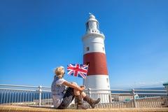 Europa Point Lighthouse Gibraltar Royalty Free Stock Photo