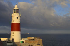 Europa Point Lighthouse, Gibraltar. Europa Point Lighthouse at sunset in Gibraltar royalty free stock photography