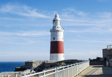 Europa Point Lighthouse Trinity Lighthouse or Victoria Tower. Royalty Free Stock Image