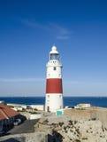 Europa Point Lighthouse (Trinity Lighthouse or Victoria Tower). Gibraltar. Stock Photos