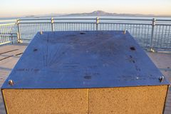 Europa Point view in Gibraltar. GIBRALTAR, UNITED KINGDOM - MAY 26, 2019: Harding`s Battery Observation Post at Europa Point in Gibraltar with a view of a stock images