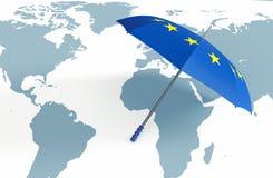 Europa, pojęcie światowa ochrona Obraz Stock