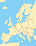 Europa politisk översikt och omgeende region Royaltyfria Foton