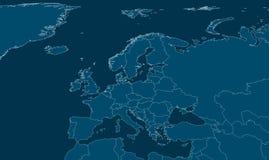 Europa Polityczna mapa Obraz Royalty Free