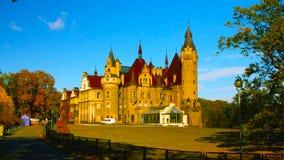 Europa Polonia 1 de enero 2019: Una pared adornada del castillo; Ksiaz es un castillo en Silesia fotografía de archivo libre de regalías