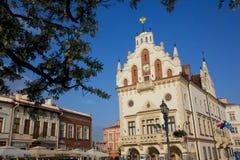 Europa, Polonia, Rzeszow, ciudad vieja, plaza del mercado, ayuntamiento Fotografía de archivo