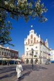 Europa, Polonia, Rzeszow, ciudad vieja, plaza del mercado, ayuntamiento Imagen de archivo