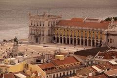 EUROPA PORTUGAL LISSABON PARA GÖR COMERCIO Royaltyfri Foto