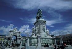 EUROPA PORTUGAL LISSABON PARA GÖR COMERCIO Royaltyfria Foton