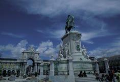EUROPA PORTUGAL LISSABON PARA GÖR COMERCIO Fotografering för Bildbyråer