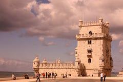 EUROPA PORTUGAL LISSABON TORRE DE BELEM Royaltyfria Bilder