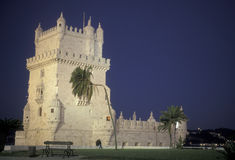 EUROPA PORTUGAL LISSABON TORRE DE BELEM Royaltyfri Foto