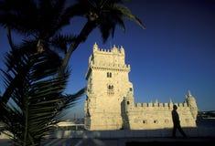 EUROPA PORTUGAL LISSABON TORRE DE BELEM Royaltyfria Foton