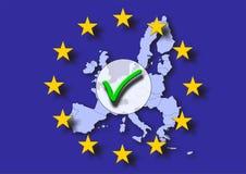 Europa positiv röstning Royaltyfria Bilder