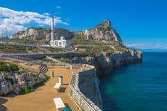 Europa punt Gibraltar stock foto's