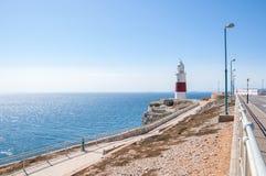 Europa Puntvuurtoren op Gibraltar Stock Foto's