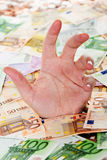 Europa que se ahoga en deuda Imágenes de archivo libres de regalías