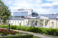 Europa Royale hotel in Druskininkai, Lithuania. Europa Royale hotel (Europa Group Hotels) in Druskininkai, Lithuania on a sunny day Royalty Free Stock Image