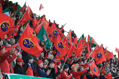 Europa-Rugby-Cup - Benetton gegen Munster Stockbild