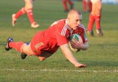 Europa-Rugby-Cup - Benetton gegen Munster Stockfotografie