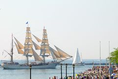 Europa Sails past spectators Stock Photography