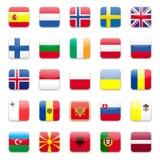 Europa señala b por medio de una bandera Imagen de archivo
