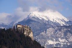 Europa, Slowenien, ausgebluteter See Stockfotografie