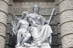 Europa, Statuen, die Verkörperungen der Kontinente darstellen Naturhistorisches Museum, Wien lizenzfreies stockbild