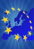 Europa stjärnor Royaltyfria Bilder