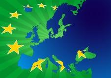 Europa stjärnor Royaltyfri Fotografi