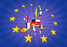 Europa stjärnor Arkivfoto
