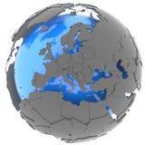 Europa sul globo Fotografia Stock Libera da Diritti