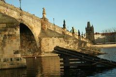 Europa tjeckisk republikprague bro arkivfoton