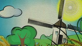 Europa tourism cartoon background