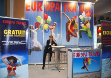 Europa Travel Center booth Royalty Free Stock Photos
