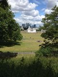 Europa UK, England, London, horisont från Greenwich Arkivfoton