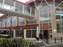 Europa UK England Nottingham Mansfield bussstation royaltyfri bild