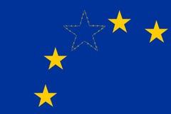 Europa-Union Jack Lizenzfreie Stockfotografie
