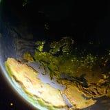 Europa van ruimte tijdens schemer stock illustratie