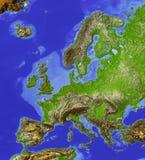 Europa översiktslättnad Royaltyfria Bilder
