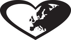 Europa w sercu Obrazy Royalty Free
